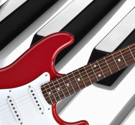 toetsen en gitaar